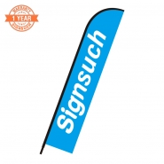 Replacement Printing of Flat 14FT feather banner