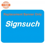 Replacement Curve 10FT Stretch Fabric Banner