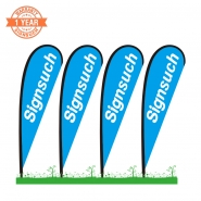 4KITS Custom 10FT Teardrop Flags with Printing