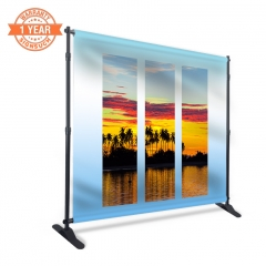 10FT Adjustable Banner Stands with Custom Printing