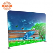 Straight 10FT Stretch Fabric Display with Printing