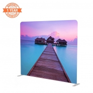 Straight 8FT Stretch Fabric Display with Printing