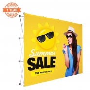 10FT Straight Pop Up Display with Custom Printing