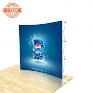 8FT Curve Pop up display with Custom Printing