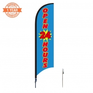 10' Open Feather Flags S0924