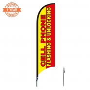 10' Cellphone Feather Flags S0815